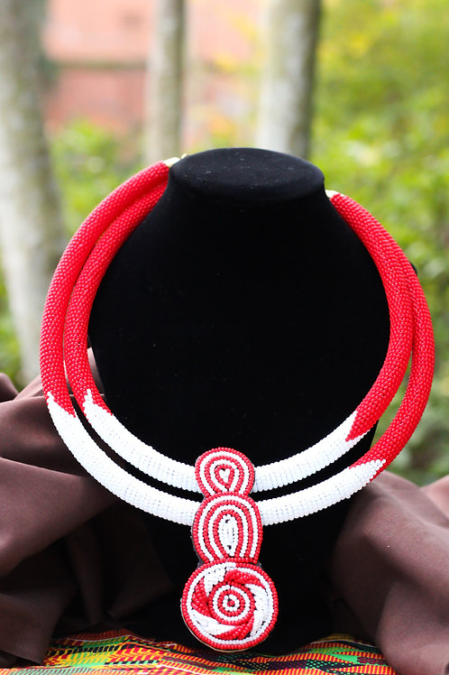 Ea African Beaded Statement Necklace