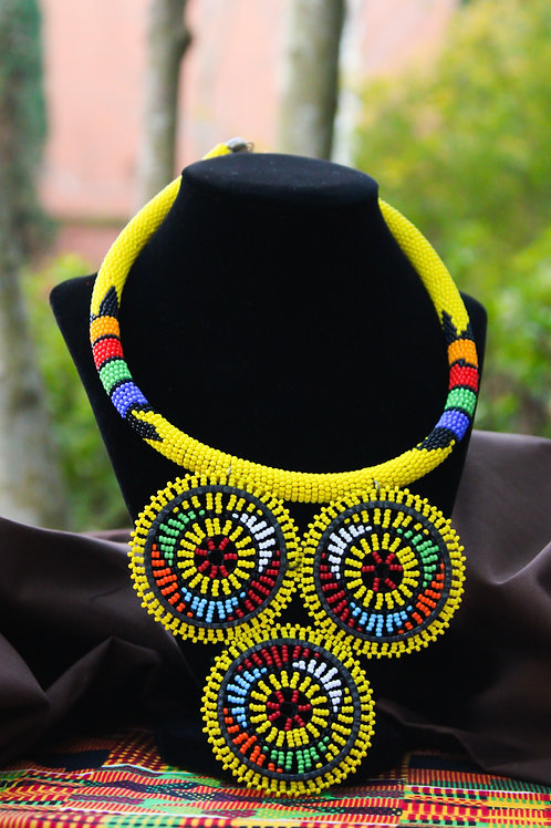 Dabir African Beaded Statement Necklace