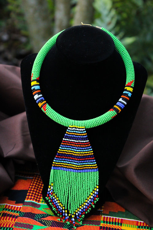 Dacey African Beaded Choker