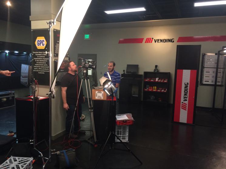 AVP on set for Motion Industries.