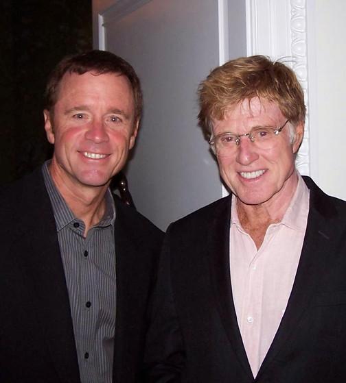 AVP Owner Tom Clark with Robert Redford.