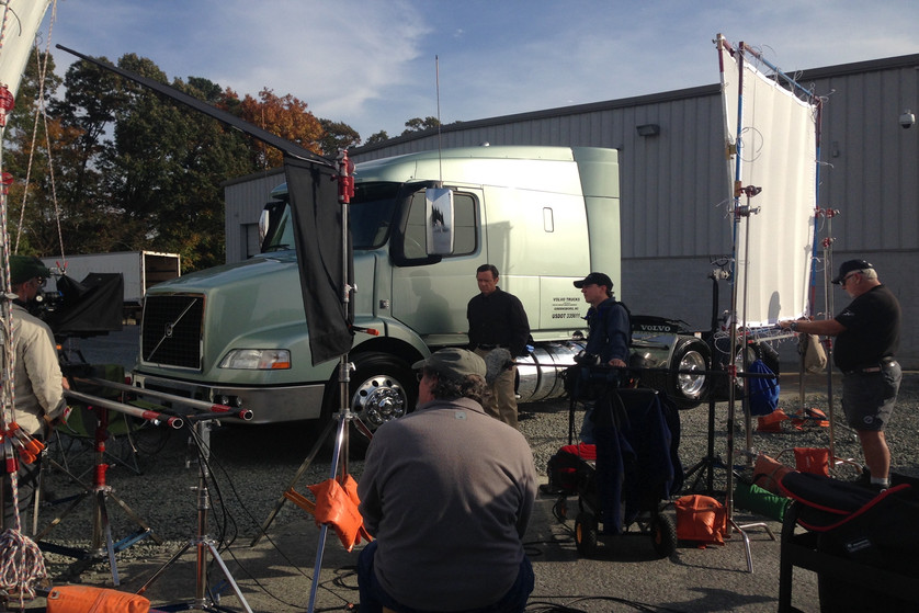 AVP on location with Volvo Trucks.