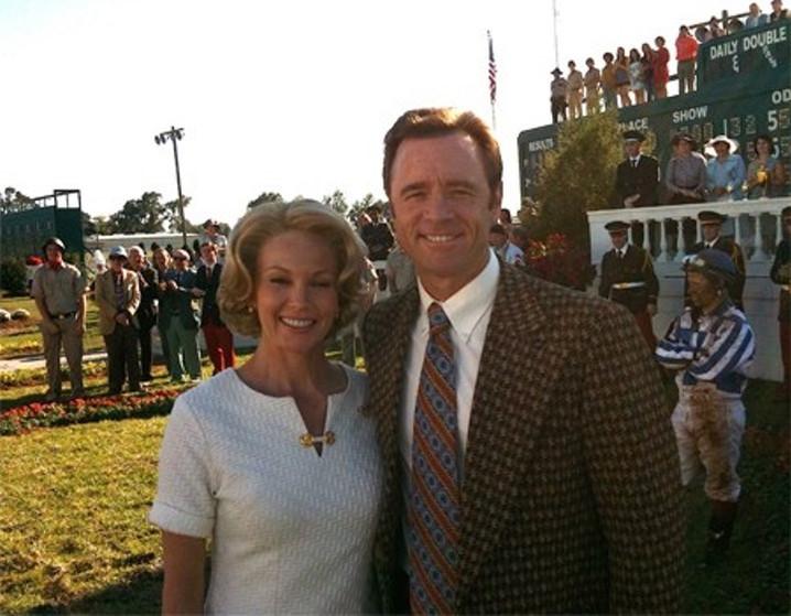 AVP Owner Tom Clark on set with Diane Lane for Secretariat.