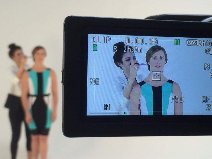 AVP in studio for Marena Compression garments.