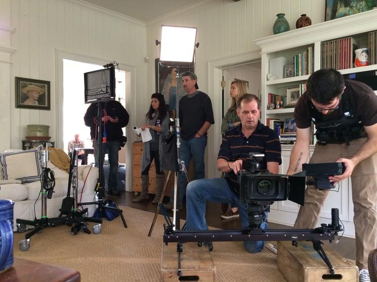 AVP on set with Schneider Electric.