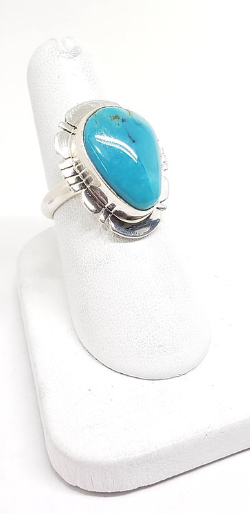 Sterling Silver & Pilot Mountain Turquoise Ring