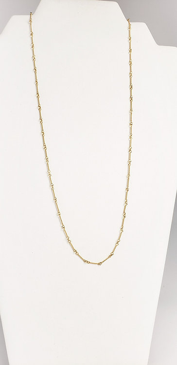 18 Karat Yellow Gold Fancy Link Chain