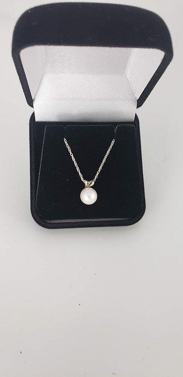 14 Karat White Gold Pearl Pendant