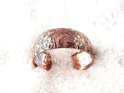 Wide Cuff Copper Bracelet