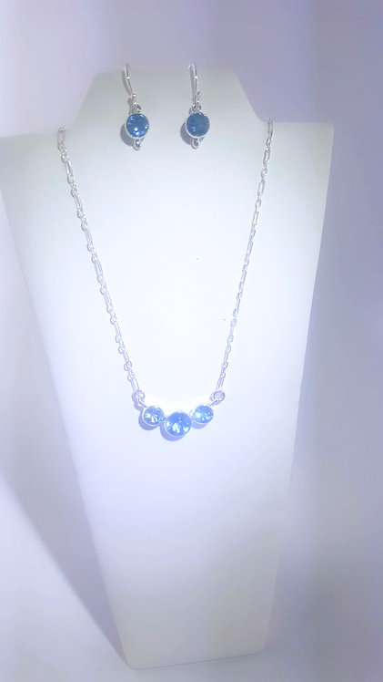 Blue Topaz Necklace & Earring set