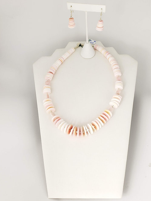 Pink Opal and Pink Shell Set