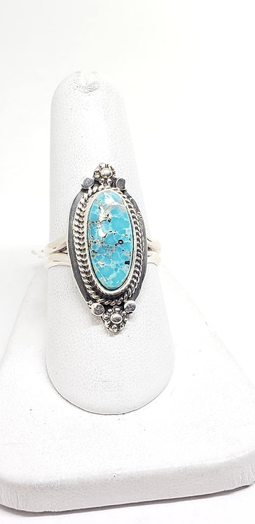 Sterling Silver & White Water Turquoise Ring