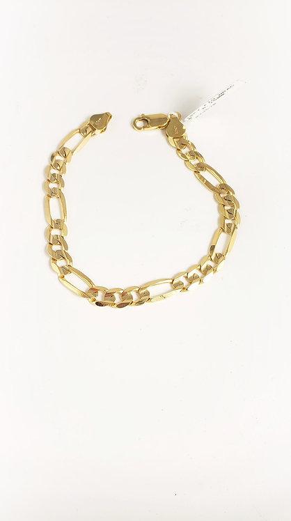 10 Karat Yellow gold Figaro Bracelet