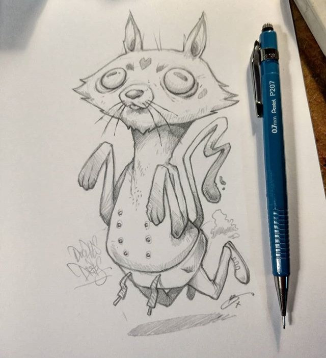 pussycat, meowth, pencil sketch, illustration, doodlesndrips, cat in pants, doodle