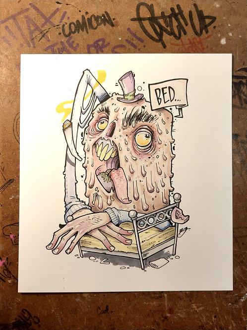 BED / ink and marker original illustration