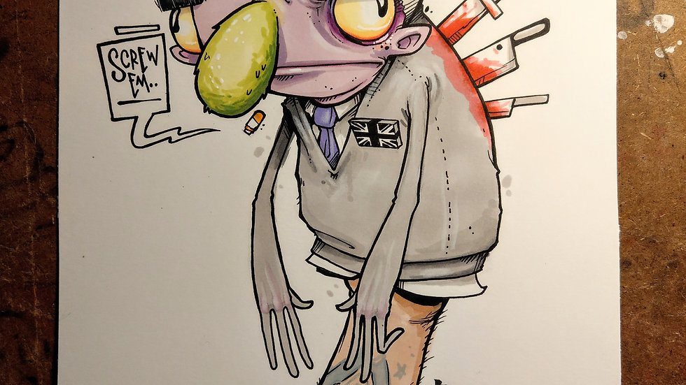 Politricks.. Ink and marker original illustration