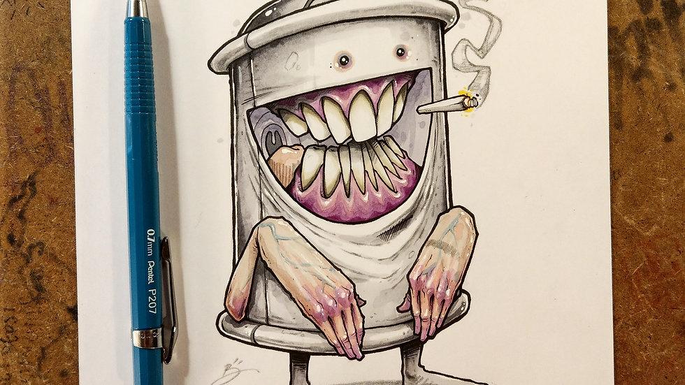 Shook.../ original ink and marker illustration