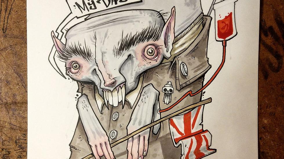 Count Brexitula / ink and marker original illustration
