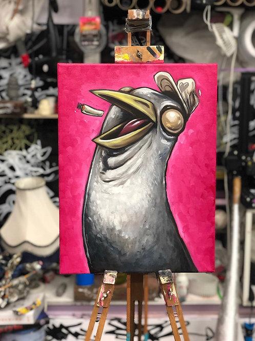 "SEAGULLIBLE Oil on Canvas 15 x 11.5"""
