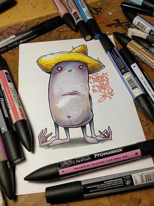 Sydney the Kidney / ink & marker A5