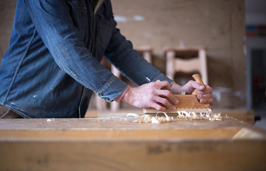 Carpenter doing custom millwork