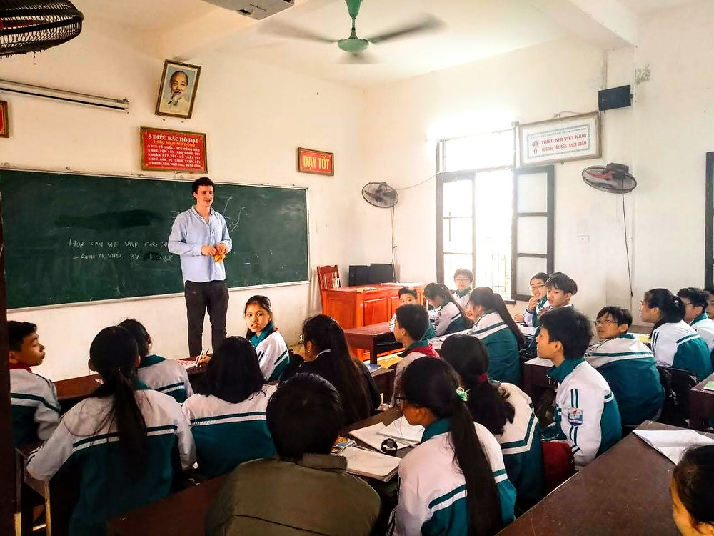 Lasco teaching his public school students