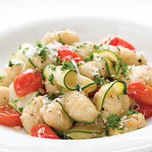 Monthly Healthy Recipe for November: Gnocchi with Zucchini Ribbon and Parsley Brown Butter