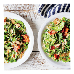 Healthy Recipe: Spring Vegetable and Quinoa Salad with Bacon