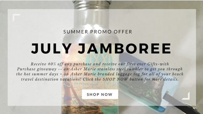 July Jamboree Summer Promotion & First Ever Gifts-with-Purchase