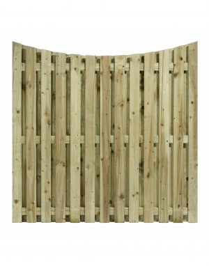 Convex Top Double Sided Paling Fence Panel
