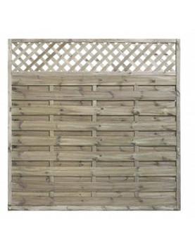 KDM - Horizontal Fence Panel with Trellis