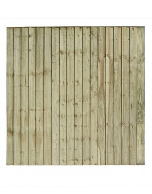 Flat Top Featheredge Fence Panel