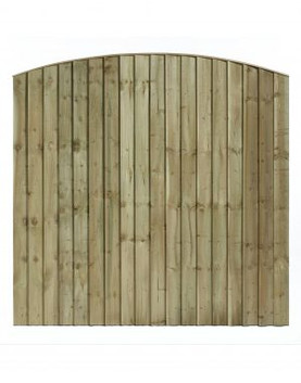 Arched Featheredge Fence Panel