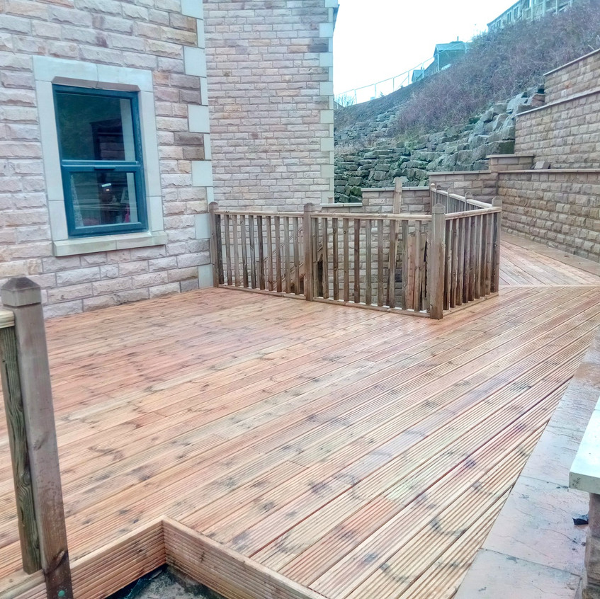 Large high rise decking area