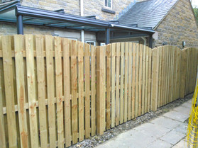 Arched Double Paling Fence Panels