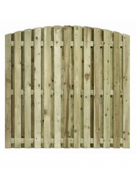 Arched Double Paling Fence Panel