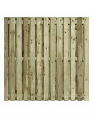 Flat Top Double Sided Paling Fence Panel