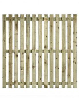 Flat Top Single Sided Paling Fence Panel