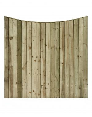 Convex Top Featheredge Fence Panel