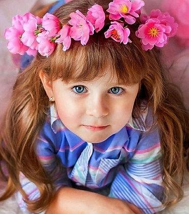 """Венок из розовой сакуры """"Принцесса весна"""""""