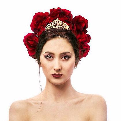 """Венок с короной """"Красная Королева"""""""