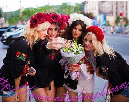 """Венки из роз для девичника """"Бархатная роскошь"""""""