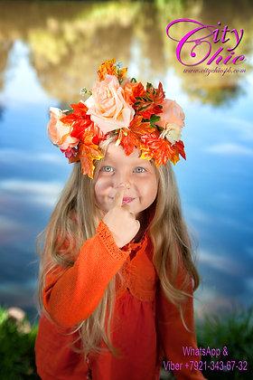 """Венок на голову """" Осенняя пора"""""""