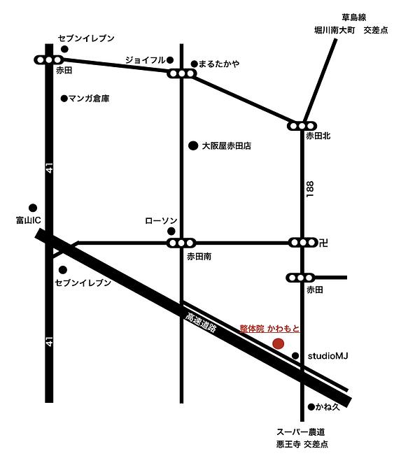 整体院かわもと地図
