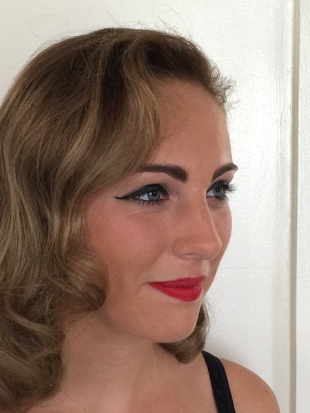 After, hair and makeup styled for a 1950s theme calendar shoot