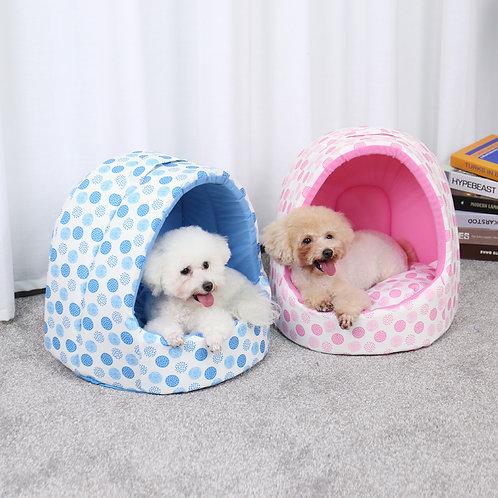Pet House Foldable Cat House Warm Soft Pet Bed Non-slip Bottom Cute Shape Cartoo