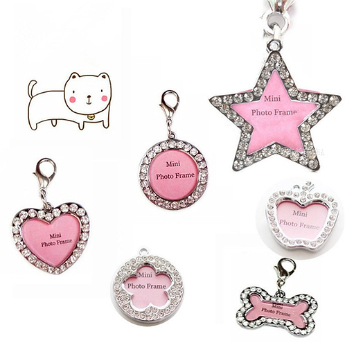Lovely Personalized Stainless Steel Pet Dog Tag Handwritten Love Pendant