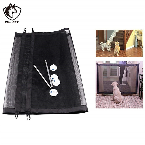 FML Pet Gate Portable Dog Cat Door 2018 Magic Gate Pet Safety Guard for Dogs