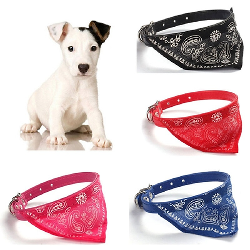 Adjustable Pet Cat Dog Collar Lovely Printed Fashion Pet Supplies Scarf Dogs Cat
