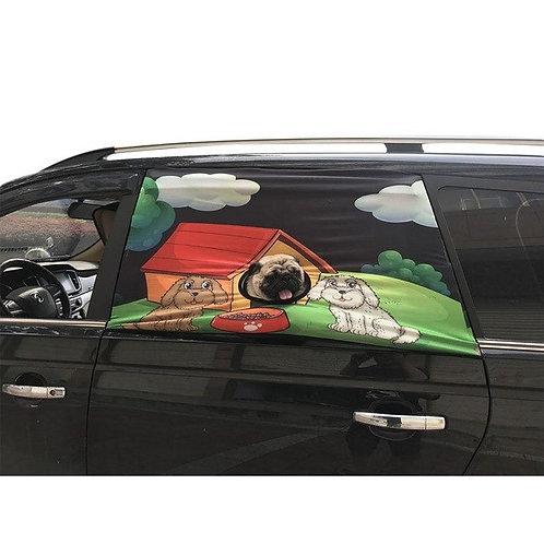 Pet Dog Sunshade Car Window Cover Sun Shade Foldable Car Visor Cover Car Pet